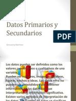 Datos Primarios y Secundarios3