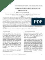 A Study of Region Based Segmentation Methods For