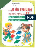 Fise de Evaluare Clasa a II A