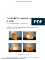 Teatrillo, ButAI, Construido Con Cajas de Cartón _ Kamishibai