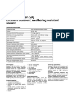 Properties of Sikaflex 521 UV VP
