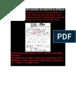 Placa Identificadora Do Motor Elétrico