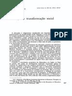 Educação e Transformação Social