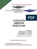 Trabajo de Legislacion Ambiental Venezolana