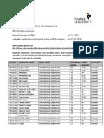 PhD Result 2014