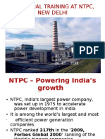 Industrial Training at Ntpc, New Delhi