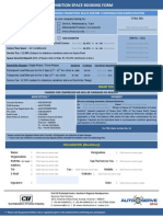 As 2014 - Space Booking Form