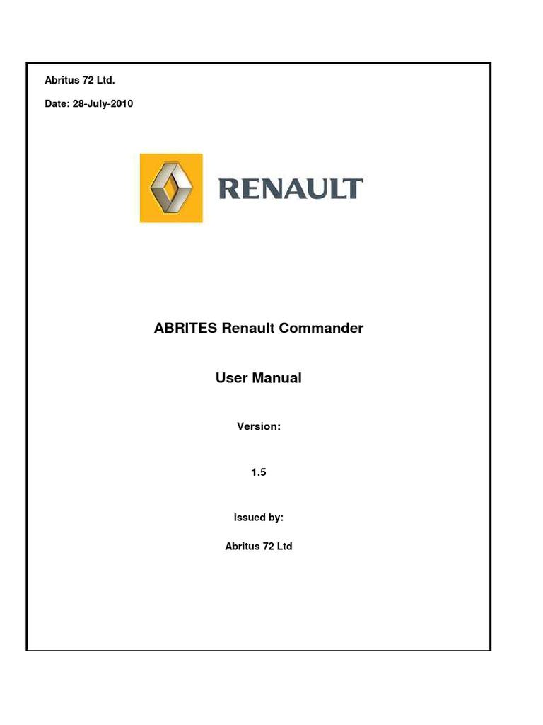 abrites commander for renault 2 0 usb installation computer rh scribd com ABRITES Wallpaper A Brite Plating Company Inc
