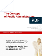 The Concept of Public Administration