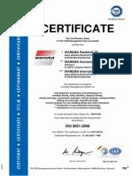 Warema Zertifikat Iso 9001