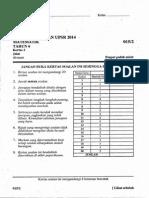 percubaan upsr 2014 - jerantut-lipis - matematik 2