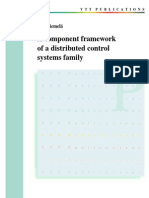 A component framework of a distributed control systems family