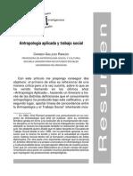 Antropologia Aplicada y Trabajo Social
