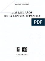 38916518 Alatorre Los 1001 Anos de La Lengua Espanola