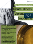 The Connection Between Mental Illness, Violence, and Impulsivity