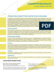 PSDI Competition Policy - Action Update - July 2014