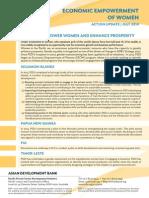 PSDI Economic Empowerment of Women - Action Update - July 2014