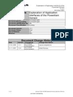 AUTOSAR ApplicationInterfaces Explanation Powertrain