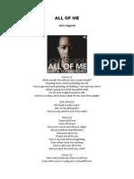 ALL OF ME - John Legend Lyric