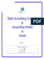 Accounting Concepts and Accounting Entries in Oracle v1.0