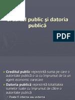 Creditul Public Datoria