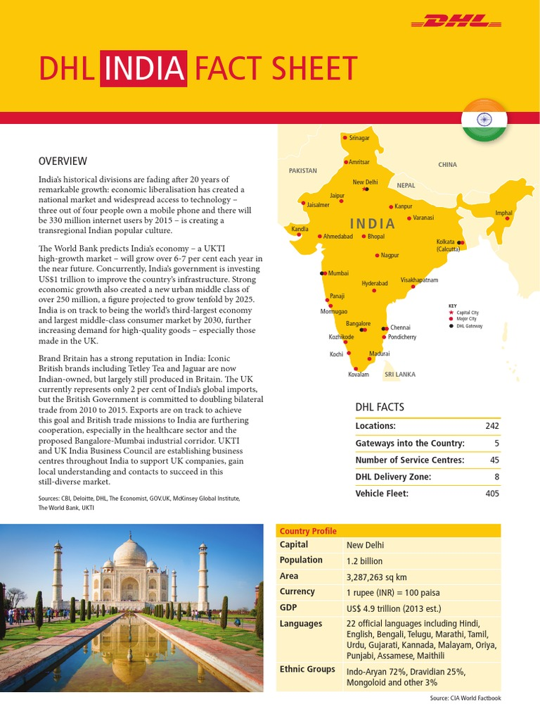 ExportingImporting with India The DHL Fact Sheet Invoice