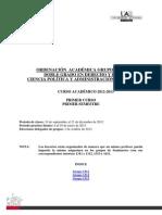 Primer Curso.primer Semestre.derecho y Cp 2012-2013