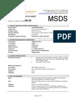 MSDS Ultramarine Blue