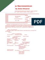 Abdul Alhazred - The Necronomicon