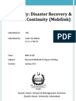 The Mobilink Disaster-Case Study