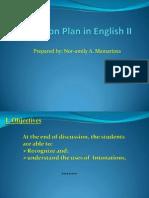 lesson plan in english ii