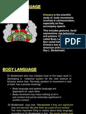 Kinesics of Body Language | Body Language | Nonverbal Communication