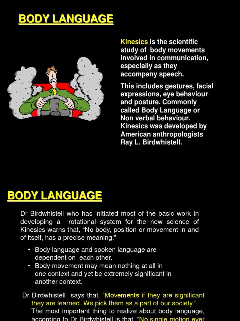 Kinesics of Body Language | Body Language | Nonverbal