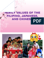 Family Values of the Filipino,Japanese,And Chinese