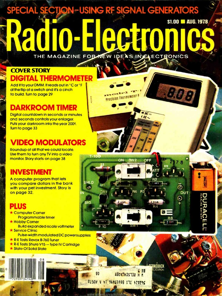 Re 1978 08 Cable Television Videocassette Recorder Simple Swr Power Meter Circuit Using 1n60