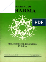 Journal of Dharma Oct - Dec 2002 Vol. XXVII No. 4