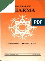 Journal of Dharma Oct - Dec. 2005 Vol. 30 No. 4