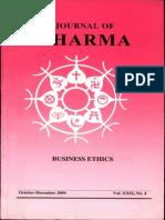 Journal of Dharma Oct - Dec. 2004 Vol. XXIX No. 4