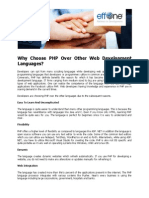 Why Choose PHP Over Other Web Development Languages