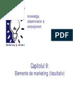 Capitolul 9 Elemente de Marketing Facultativ