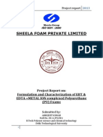 sheela foam Trng Report