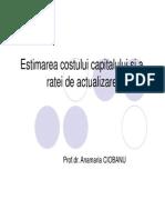 Curs 6_Estimarea Costului Capitalului