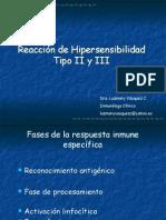 Clase Hipersensibilidad II, III