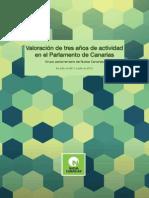 Valoracion actividad parlamentaria NC tres años