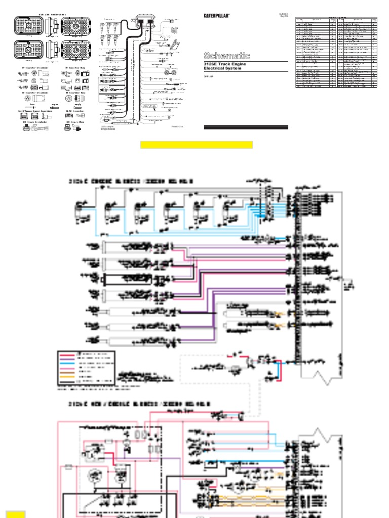 3126e wiring schmatic | throttle | turbocharger  scribd