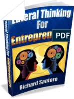 "Lateral ""Creative"" Thinking for Entrepreneurs"
