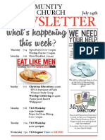 Weds 7/24 Newsletter