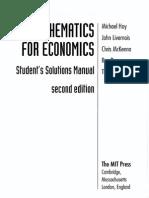 Mathematics for Economics Student's Solutions. Michael Hoy