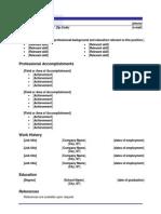 functional resume blue