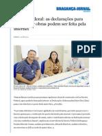 Bragança Jornal Diário __ Receita Federal_ as Declarações Para Regularizar Obras Podem Ser Feita Pela Internet